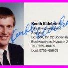 1984 Los Angeles Athletics Javelin Bronze KENTH ELDEBRINK Autographed Photo Card