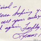 Actor LYNNE CARTER Autograph Note Signed 1973