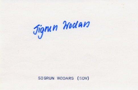 1988 Seoul Athletics 800m Gold SIGRUN WODARS Autograph 1980s