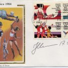 1980 Moscow Athletics Triple Jump Gold JAAK UUDMAE Hand Signed FDC Colorano Olympics 1984