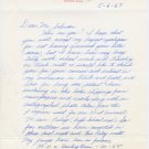 Miami University (Ohio) - High Jump Star TED DOWNING Autograph Letter Signed 1967