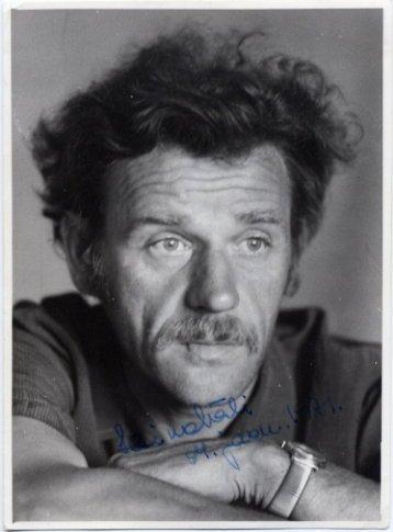 Estonian Writer HEINO VALI Autographed Photo 1971
