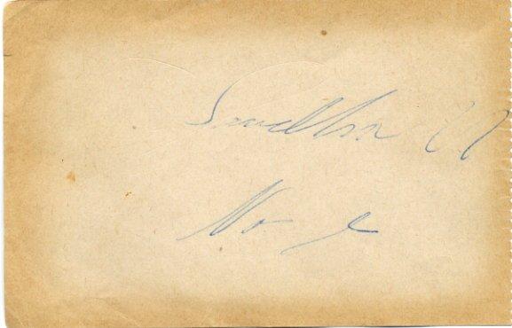 1958 European Speed Skating Championships THORSTEIN SANDHOLT Autograph 1958