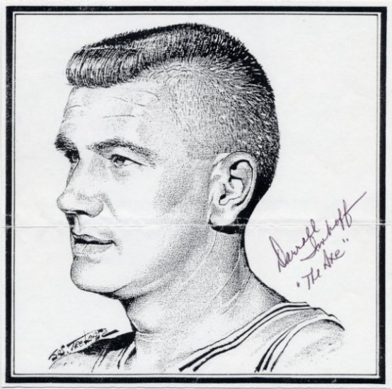 1960 Rome Basketball Gold & NBA DARRALL IMHOFF Autographed Print