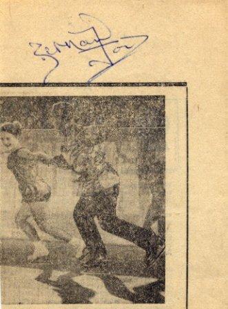 1960s Four-Time Ice Dance World Champion BERNARD FORD Autograph 1968