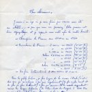 1948 London & 1952 Helsinki Athletics 1500m Olympian JEAN VERNIER Autograph Letter Signed 1983