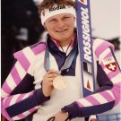 1988 Calgary Alpine Skiing Bronze & 1992 World Cup PAUL ACCOLA  Hand Signed Photo 1988