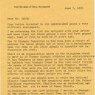 Amateur Athletic Union Aquatics Administrator HARRY HAINSWORTH TLS 1976