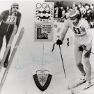 1976 Innsbruck & 1980 Lake Placid Nordic Combined Bronze KONRAD WINKLER Signed Photo 1980