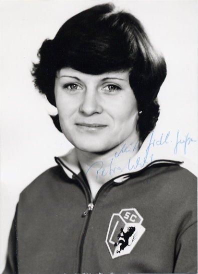 1976 Montreal Handball Silver & 1980 Moscow Bronze PETRA UHLIG Signed Photo 4x6