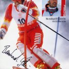 1988 Calgary Alpine Skiing Silver BERNHARD GSTREIN Hand Signed Photo