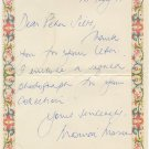 Ballet Dancer & The Royal Ballet Director MONICA MASON Autograph Letter Signed 1994