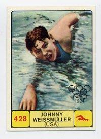 1968 Panini Campioni Dello Sport - #428 JOHNNY WEISSMULLER - Swimming