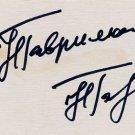 1988-1994-1998 Nordic Skiing Gold NINA GAVRILYUK Hand Signed Card