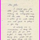 Illinois 1953-55 Big Ten Hurdles Champion WILLARD THOMSON Autograph Letter Signed 1954