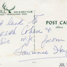 American TV & Stage Actor LAURENCE HUGO Autographed Postcard 1974