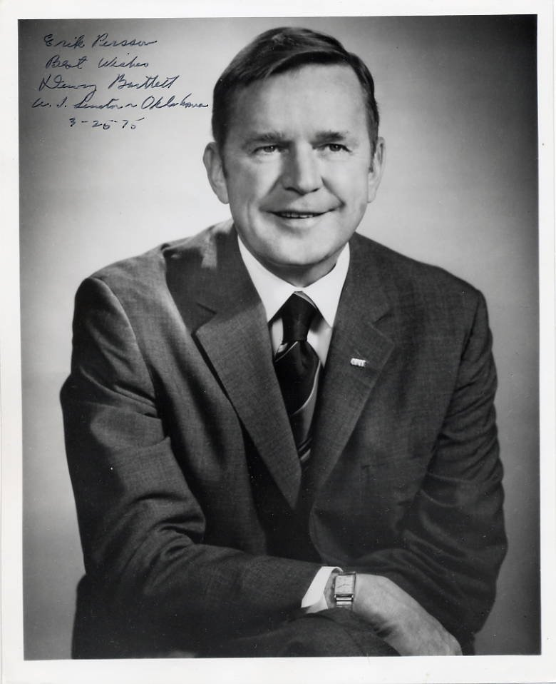 Governor of Oklahoma DEWEY BARTLETT SP 8x10 from 1975