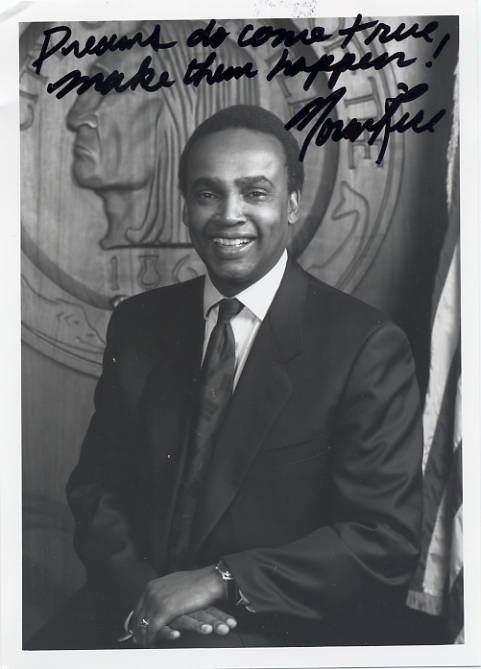 1990-97 Mayor of Seattle NORMAN RICE Hand Signed Photo 5x7