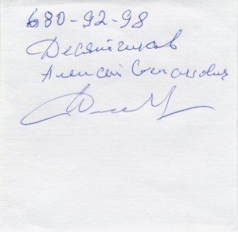 1959 Philadelphia US vs USSR Dual Track Meet 10000m Winner ALEXEI DESYATCHIKOV Autograph