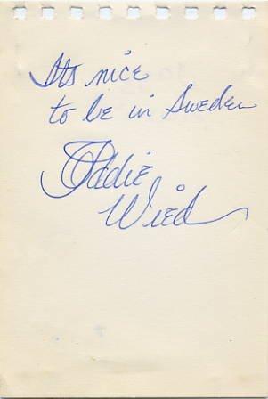 American Jazz Pianist EDDIE WIED Vintage Autograph