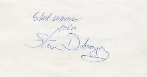 American Composer & Pianist STEVE DOBROGOSZ Autographed Card