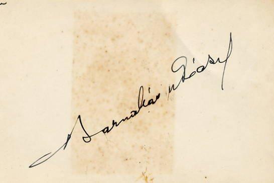 Violinist, Composer & Bandleader BARNABAS von GECZY Autographed Card