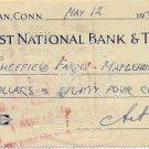 Graphic Artist & Designer ARTHUR SZYK Hand Signed Bank Check 1947