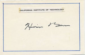 Manhattan Project Scientist HARRISON BROWN Autographed Card