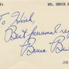 Ten-time Casting World Champion BRUCE BRUBAKER Sr. Autographed Card 1979