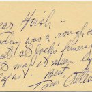 Gettysburg National Tower Builder THOMAS OTTENSTEIN Autograph Note Signed 1991