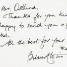 British Science Fiction Author BRIAN ALDISS Autograph Note Signed