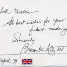 British Science Fiction Author BRIAN ALDISS Autograph Note Signed 1979