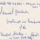 American Composer & Violinist SAMUEL GARDNER Autograph Note Signed 1971