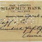 Mafia Wife of Meyer Lansky ANNE LANSKY Hand Signed Check 1938