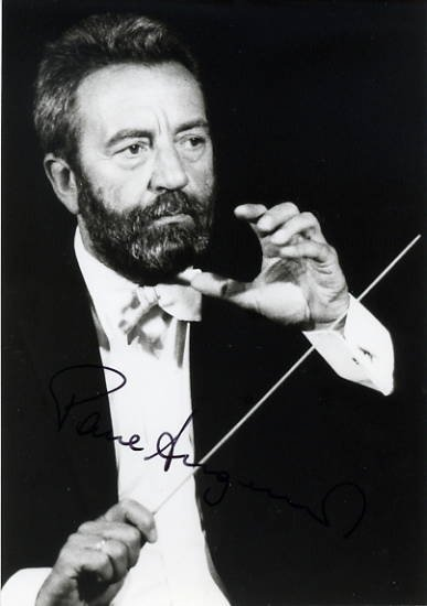 Austrian Violist, Conductor & Composer PAUL ANGERER Hand Signed Photo 4x6