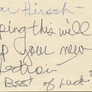 American Singer Meat Loaf & Actress ELLEN FOLEY Autograph Note Signed 1977
