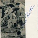 1960 Rome Swimming Bronze & WR HEIDI PECHSTEIN Autograph 1960s