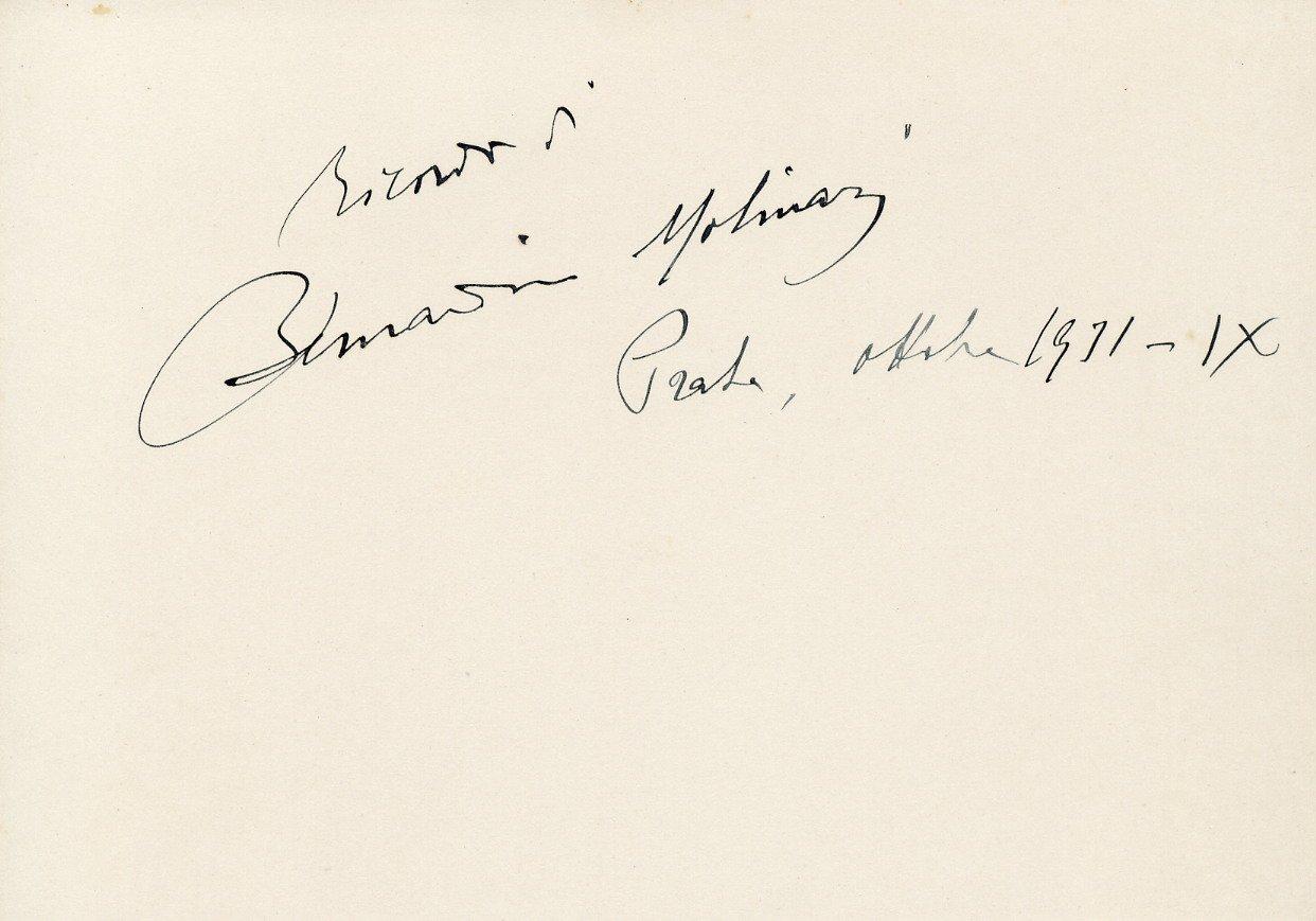 Italian Violinist & Conductor BERNARDINO MOLINARI Autographed Card 1931