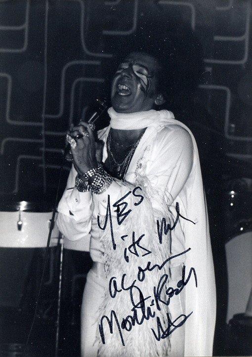 1970s Legendary Disco Performer MONTI ROCK III Hand Signed Photo 1975