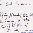 American Diplomat RODNEY KENNEDY-MINOTT Autograph Note Signed from 1977