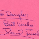 Pioneer TV Talk Show Host DAVID SUSSKIND Hand Signed Card 1970s