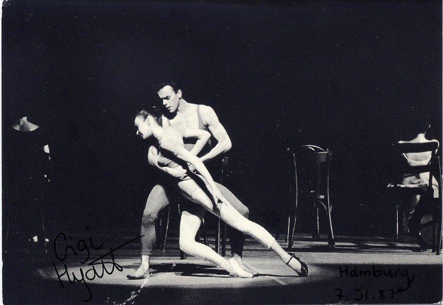 Hamburg Ballet 6th Symphony of Gustav Mahler Ballerina GIGI HYATT SP 4x6 1987