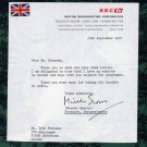Award-Winning British Documentary Filmmaker MISCHA SCORER Typed Letter Signed 1974
