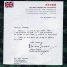 Award-Winning British Documentary Filmmaker MISCHA SCORER Typed Letter Signed 1974