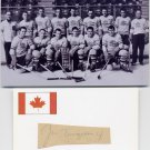 1949 Ice Hockey World Championships Silver JOE TERGESEN Autograph Cut 1949 & Pict
