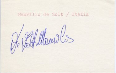 1994 Lillehammer Cross Country Skiing Gold MAURILIO DE ZOLT Autograph 1988