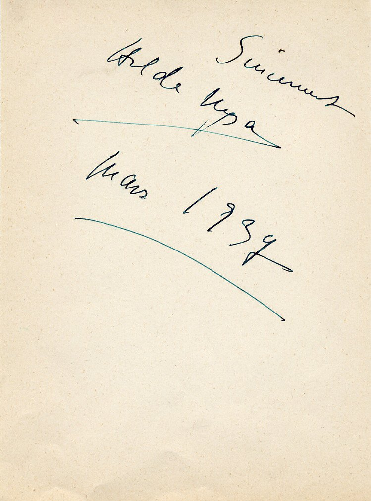 Belgian Soprano HILDA NYSA Autograph from 1937