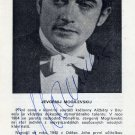Russian Pianist EVGENY MOGILEVSKY Autographed Program Page 1970s