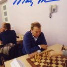 Iceland - Chess Grandmaster MARGEIR PETURSSON Hand Signed Photo 4x6