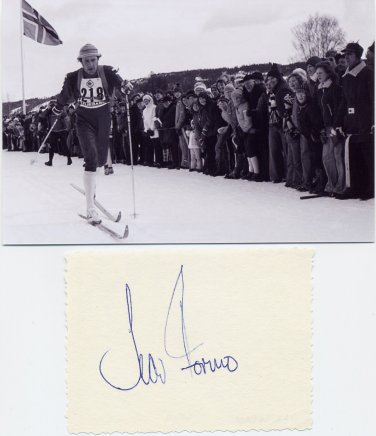 1976 Innsbruck Cross Country Skiing Gold IVAR FORMO Autograph from 1979 & Pic